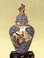 Oriental Blue Vase I Fine-Art Print