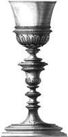 Black & White Goblet I (SC) Fine-Art Print