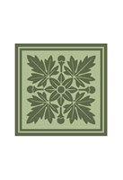 Tonal Woodblock in Green I Fine-Art Print