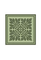Tonal Woodblock in Green II Fine-Art Print