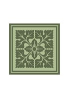 Tonal Woodblock in Green IV Fine-Art Print