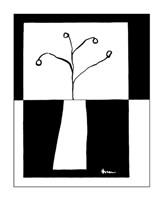 Minimalist Flower in Vase III Fine-Art Print