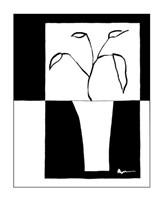 Minimalist Leaf in Vase II Fine-Art Print