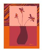 Minimalist Flowers in Orange III Fine-Art Print