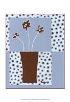 Minimalist Flowers in Blue I Fine-Art Print