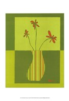 Minimalist Flowers in Green III Fine-Art Print