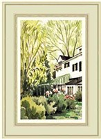 Garden view of a house in Milbrook Fine-Art Print