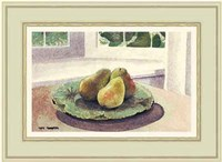 Still Life with Pears in a Sunny Window Fine-Art Print