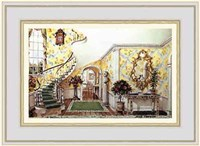 Graceful Staircase Hall in the Carolinas Fine-Art Print