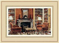 A Cozy Neoclassical Book Rooms Fine-Art Print