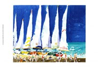 Sailboats on the Beach Fine-Art Print