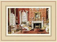 A Classic English Country House Drawing Room Fine-Art Print