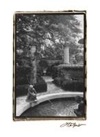 Garden Fountain I Fine-Art Print