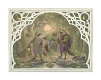 Raccoon's Masked Ball Fine-Art Print