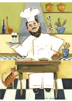 Jolly French Chef Fine-Art Print