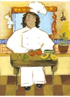 Jolly Mexican Chef Fine-Art Print