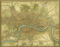 Map of London Framed Print