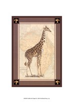 Giraffe with Border II Fine-Art Print