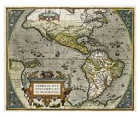 Novi Orbis Map Giclee