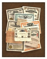 Stock Certificate Collection Fine-Art Print