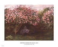 Resting under the Lilacs Fine-Art Print