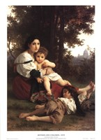 Mother and Children Fine-Art Print