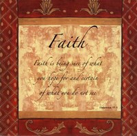 Words to Live By, Traditional - FAITH Fine-Art Print