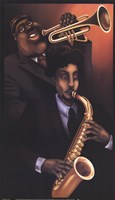 Jazz City 1 Framed Print