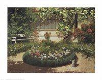 A Sunlit Flower Garden Fine-Art Print