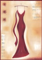 Red Evening Gown II Fine-Art Print