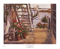 Blue Stair and Begonias, 1987 Fine-Art Print