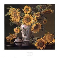 Sunflowers in a Chinese Vase Fine-Art Print