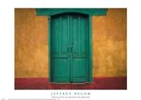 Turquoise Lintel, San Juan Ostuncalco, Guatemala Fine-Art Print