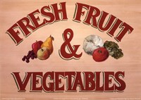 Fruits & Vegetables Sign Fine-Art Print