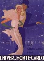 L'Hiver a Monte Carlo Fine-Art Print