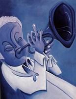 Blue Jazzman I Fine-Art Print