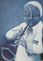 Blue Jazzman IV Fine-Art Print