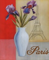 Paris Floral Views Fine-Art Print