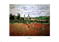 Field of Poppies, Vetheuil Fine-Art Print
