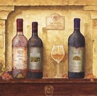 Wine Bottle Cluster III Fine-Art Print