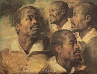 Four Negro Heads Fine-Art Print