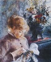 Lady Sewing Fine-Art Print
