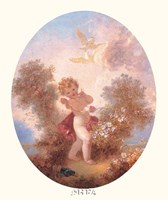 Cupid Between Roses Fine-Art Print