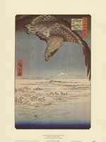 Eagle Flying over the Fukagama District Fine-Art Print