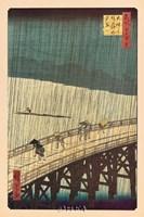 Ohashi Bridge in the Rain Fine-Art Print