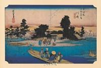 Tokaido No. 3 Ferry on the River Fine-Art Print