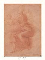 Seated Virgin Holding Child Fine-Art Print