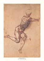 Study of a Seated Male Figure Fine-Art Print