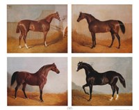 Stable Mates (Set of Four) Fine-Art Print
