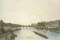 View of the Louvre from the Seine Fine-Art Print